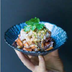 cangrejo crudo condimentado