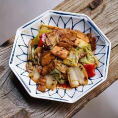 panceta picante al wok